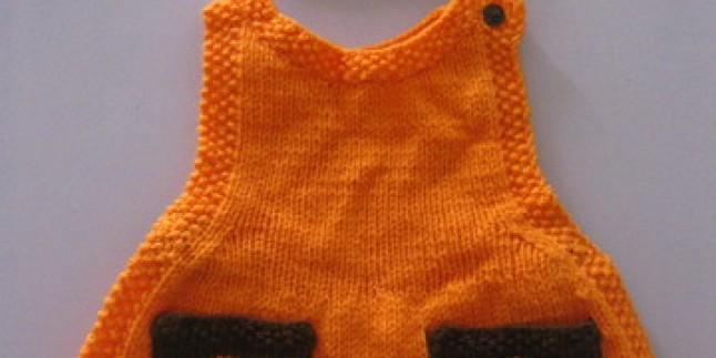 Örgü Bebek Elbisesi Modeli