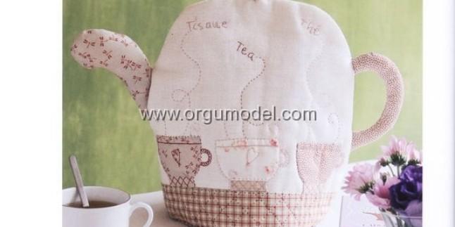 Aplike Çaydanlık Kılıfı