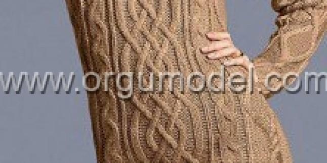 Uzun Kahverengi tunik modelleri