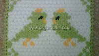 Kuş Motifli Lif Modeli