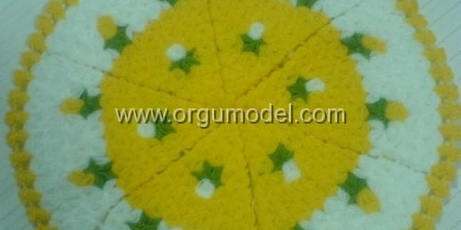Yuvarlak Çiçek Motifli Lif Modeli