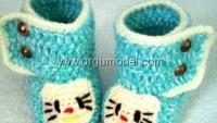 Hello Kitty Örgü Bot Patik
