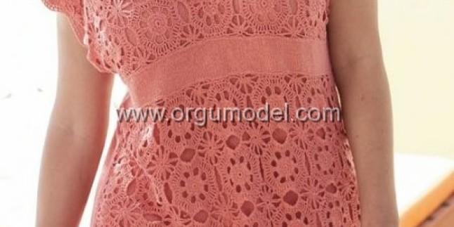 Pembe Örgü Bluz Modeli