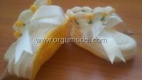 Sarı Laleli Patik Modeli