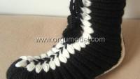 Siyah Beyaz Bot Patik Modeli