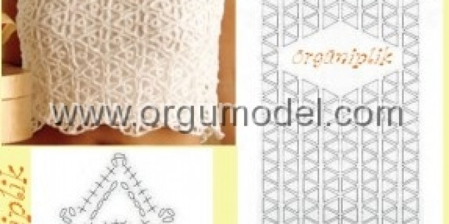 Tığ Örgüsü Bluz Modeli