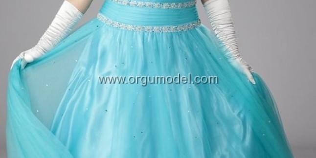 Açık Mavi Abiye Modelleri