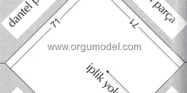 Şık Bir Keten Örtü Modeli Yapılışı