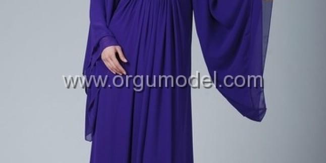 Renkli Tesettürlü Bayan Abiye Modelleri