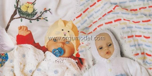 Civcivli Örgü Bebek Battaniyesi Yapımı