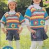 Kanaviçe Çiçekli Rengarenk Çocuk Kazak Örneği