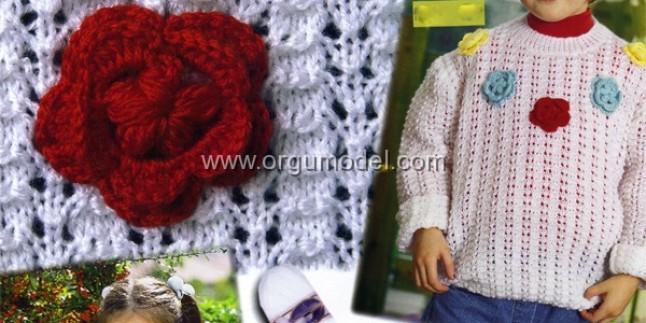 Güllü Çocuk Kazak Modeli