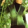 Ajurlu Yeşil Hırka Modeli