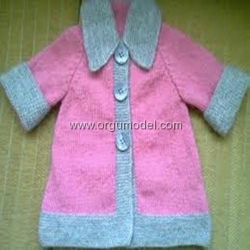 Pembe Gri Bebek Hırkası