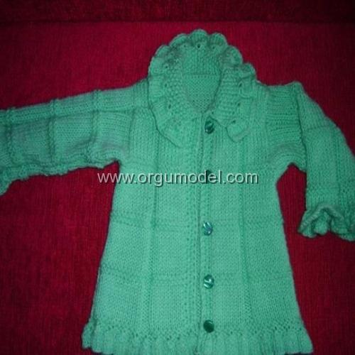 Yeşil Bebek Hırkası